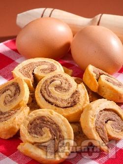 Шоколадови колелца / ролца - снимка на рецептата